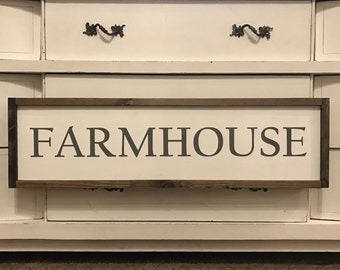 Farmhouse 34x10 MORE COLORS / hand painted / wood sign / farmhouse style / rustic