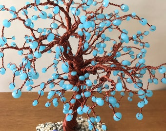 Large boho wire and bead tree