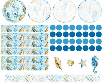 Planner Stickers Erin Condren Monthly Notes Page Treasures of the Sea