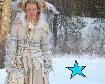 Upcycled Sweater Coat GUIDE- WInter White Victorian FantasySnow Gown