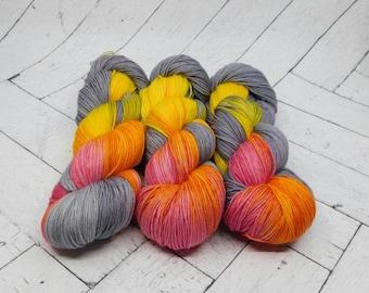 The Raising Sun- Hand-dyed Superwash Sock Yarn