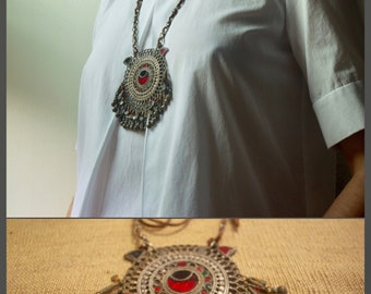 Boho Necklace, Tribal Necklace, Kochi Necklace, Statement Jewelry, Ethnic Necklace