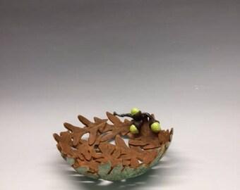 Oak Leaf Bowl with Acorns