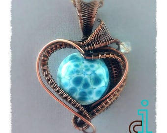 Hearts on Fire - Wirewrap, wireweave with weave tutorial