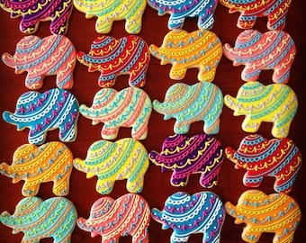 Bollywood Elephant Decorated Cookie Favors-