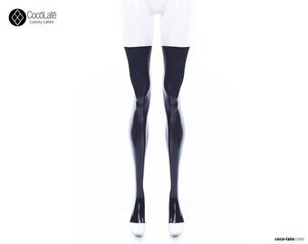 Toeless Latex Stockings