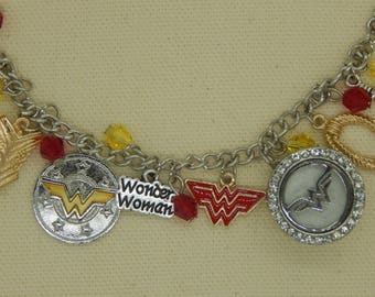Wonder Woman inspired Charm Bracelet Aromatherapy Essential oil Diffuser
