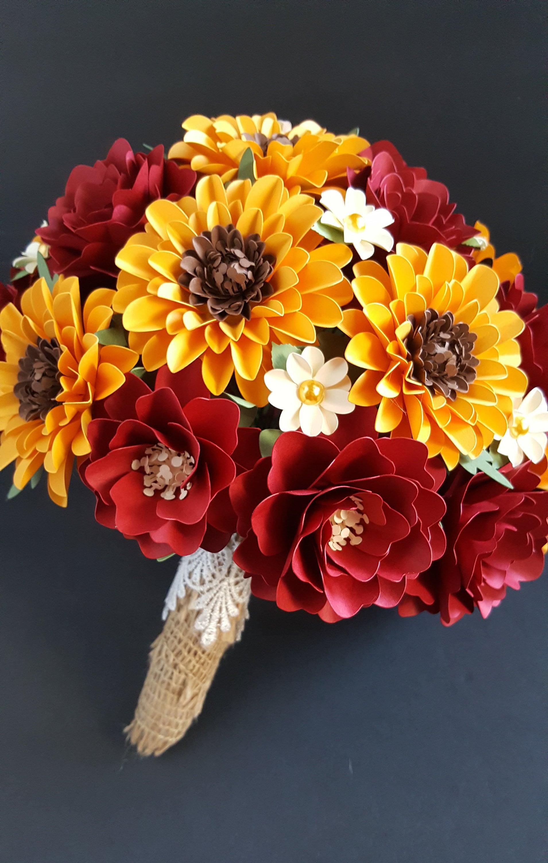 papier fleur bouquet bouquet tournesol bouquet dautomne