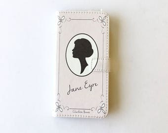 Book phone /iPhone flip Wallet case- Jane Eyre for  iPhone 8 7 6, 6 & 7 plus, 5 5s 5c- Samsung Galaxy S9 S8 S7 S6  Note 4, 5, 7, 8 LG, Sony