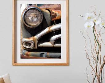Old Car I.  Photography, wheels, cars, Ford, rust, decor, wall art, artwork, large format photo.