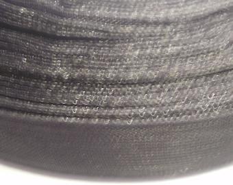 5 m black 10 mm organza Ribbon