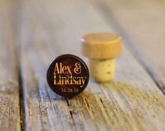 BEST PRICE ** Lot of Personalized Custom Wine Stopper Laser Engraved Cork Bottle Topper Reusable Wedding Favor --WS-dg-Alex and Lindsay