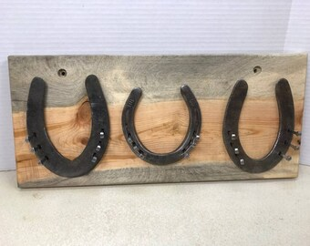 Hand-Crafted Lucky Horse Shoe Jewelery Rack