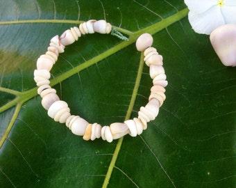 Puka Shell Bracelet - Shell Jewelry - Puka Shell Jewelry - Puka Shells Bracelet Kauai Puka Shell Bracelet Seashell Jewelry- Eco Friendly