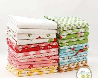 "Sew Cherry 2 - Fat Quarter Bundle - 30 (18""x21) by Lori Holt by Riley Blake"