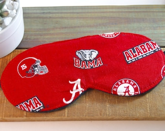 Alabama Fabric Sleep Mask, Unisex Elephants Face Sleeping Cover Present Gift, Soft Cute Comfortable Light Blocking Slumber Party Accessory