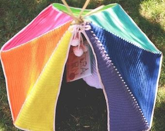 Crochet Pattern, Toddler Teepee, Kids Tent