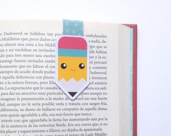 Kawaii Pencil Magnetic Bookmark - Double Sided