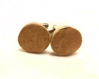 HOLD TITE Vintage Baseball Glove Leather Cufflinks