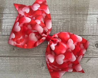 "Valentine Heart Balloon 7"" Bow"