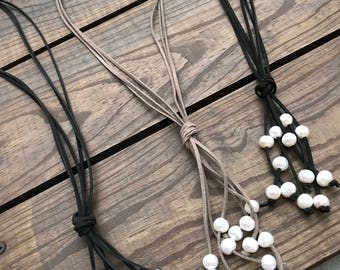 Suede Tassel Necklace