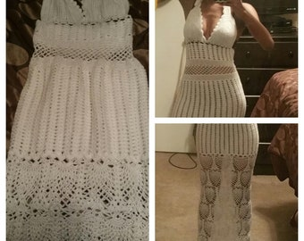 Long crochet cover up