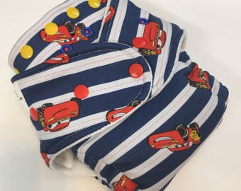 Cars Lightning McQueen Disney Hybrid Fitted Diaper - Turned & Topstitched Mater