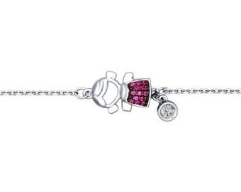 SOKOLOV - Girl Bracelet - Sterling Silver With CZ, Pink
