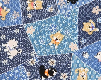 217712 blue Oxford fabric funny dog animal shape from Japan