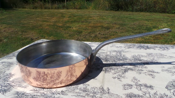 Serie Speciale Villedieu 2mm Copper Frying Saute Pan Vintage French Copper 24cm Kitchen Staple Beautiful Fabulous Quality Copper