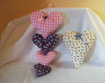String of Stuffed Hearts
