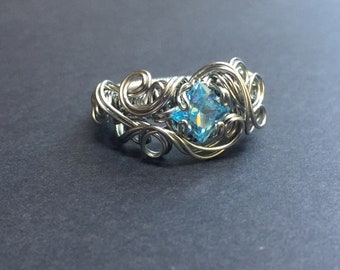 One of a Kind Size 7.75 Stainless Ring