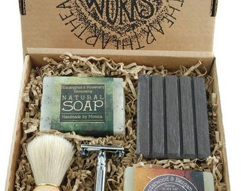 Natural Soap and Shampoo Gift Set For Men