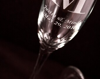 Personalized Champagne Flutes Set of Two - 6 oz.