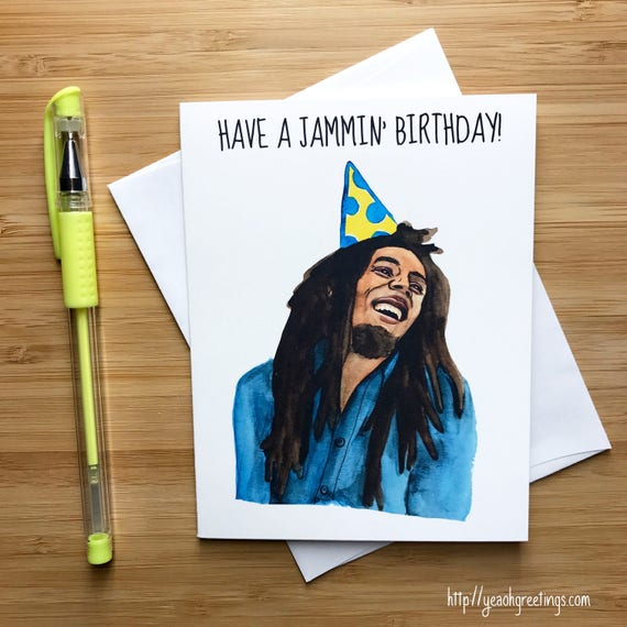 Cute jammin birthday card pop culture music card cute jammin birthday card pop culture music card music gifts reggae music weed lovers marijuana jamaica music birthday cards bookmarktalkfo Image collections