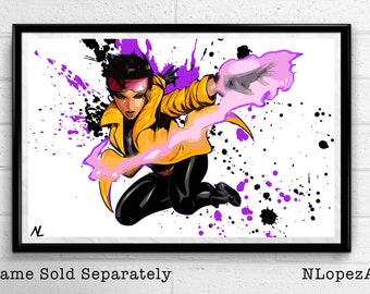 Jubilee Xmen Illustration, Pop Art, Superhero Poster, Comic Book Print Canvas