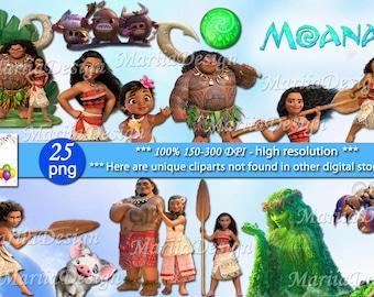 Moana Clipart, 25 PNG, 300 Dpi, Moana clip art, Moana png, Moana, Moana Instant download, Moana download, Te fiti, Moana digital clipart