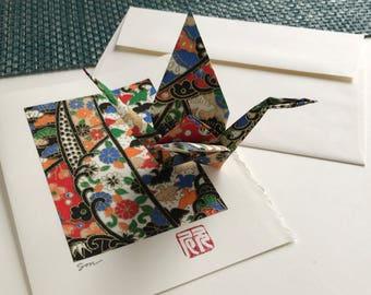 Origami Crane Card