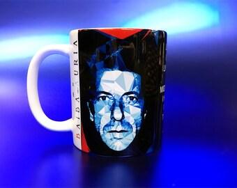 Leonard Cohen Mug by Baiba Auria (Ceramic mug, coffee mug, music gift, inspirational quote, rock candle, Chelsea hotel, I'm your man)