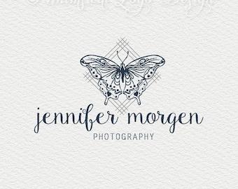 PreMade logo - Photography Logo - Butterfly Logo Design - Boho Logo Premade Photography Logo  Watermark Design, Premade Logo - Watermark 250