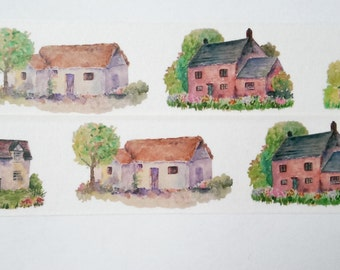 Design Washi tape houses farm nature garden