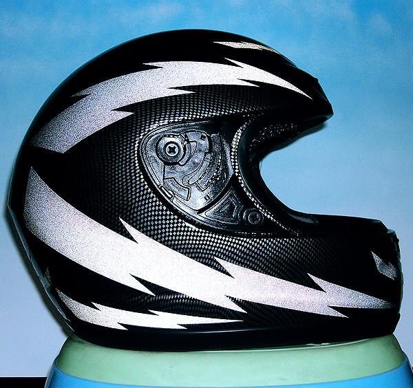 Lightning Reflective Decal Set Reflective Lightning Helmet - Pink motorcycle helmet decals
