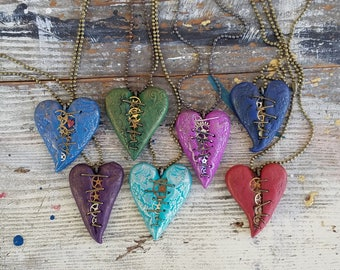 Lacey look Heart Pendent