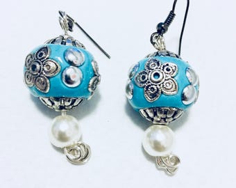 Turquoise Blue Chandelier Earrings
