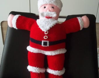 Santa Claus toy knitting pattern - hand made from 40 cm