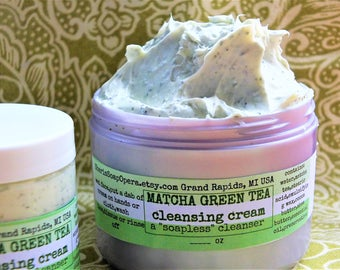 "Matcha Green Tea Facial Cleanser-with Green Tea Extract-OR NEW Oat Milk Facial Cleanser-A ""Soapless"" Alternative-Great for ""Problem Skin"""