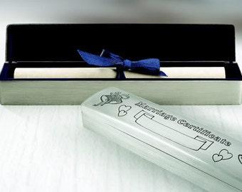 Wedding Certificate Box, Free Engraving