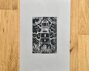 A4 Lighthouse Print