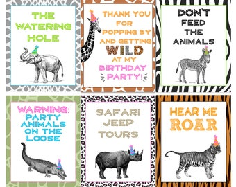 Animal party Etsy