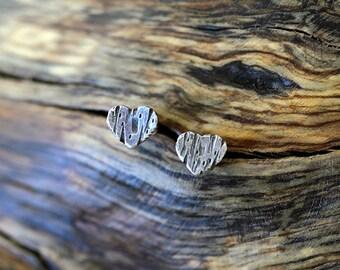 Personalisierte Sterlingsilber Baum Ohrring (E0398)